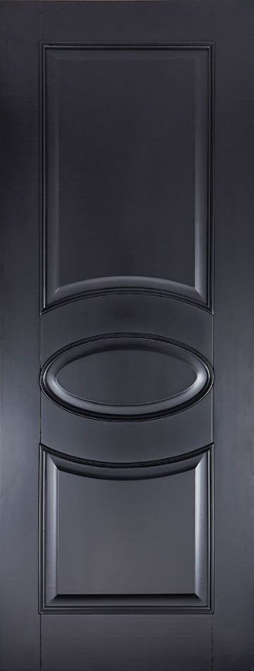 Black Versailles Fire Door